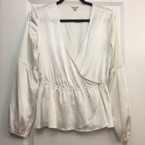 GUESS Satin look Bell Sleeve Blouse